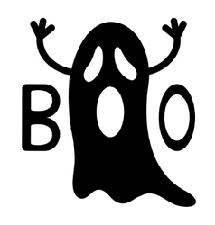Happy Halloween Funny black flying ghost with vector