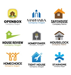 Housing Logos Compilation vector