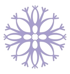 Isolated snowflake 04 vector image