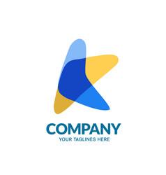 k letter color vector image