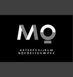 minimal modern alphabet typography trandy font vector image