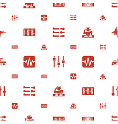 mixer icons pattern seamless white background vector image