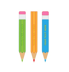 pencils icon vector image