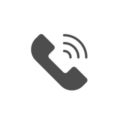 phone call icon and telephone concept vector image