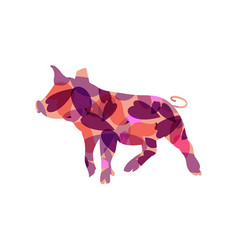 piggy colourful vector image