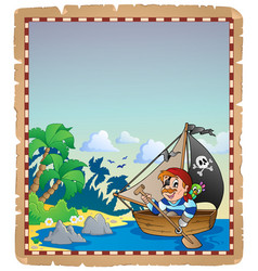 Pirate theme parchment 6 vector