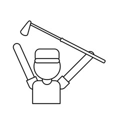 player golf related icon image vector image