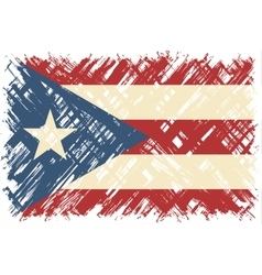 Puerto Rican grunge flag vector image