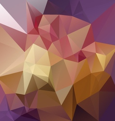 Purple pink yellow abstract polygon triangular vector