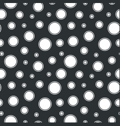 seamless dotted pattern - black and white vector image