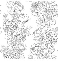 seamless pattern rose flower for fabric design vector image