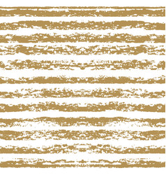 seamless striped gold pattern hand painted vector image