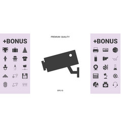 security camera icon - graphic elements for your vector image