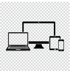 set of electronic devices icon vector image
