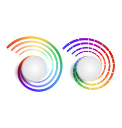 set of rainbow round banners with place for text vector image