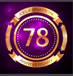 Seventy eight years anniversary celebration with vector