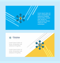 share idea abstract corporate business banner vector image