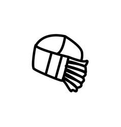 Slayer bandana line icon vector