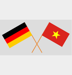 Socialist republic of vietnam and germany flags vector