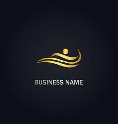 Sport swim logo vector