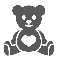 Teddy bear glyph icon child and toy vector