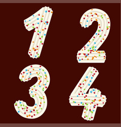 Tempting tipography font design 3d numbers one vector