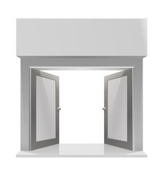 the door to the store on a white background vector image