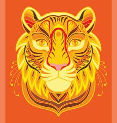tiger coloring book anti-stress vector image