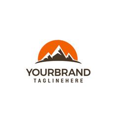 tourism travel logo design template vector image