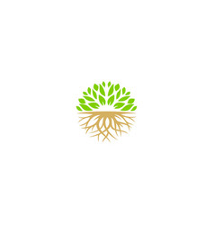 tree ecology nature organic logo vector image