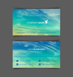 Two-sided horizontal business cards with realistic vector