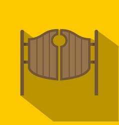 vintage western swinging saloon doors icon vector image