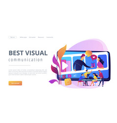 Visual storytelling concept landing page vector