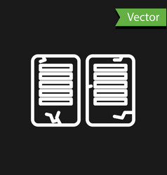 White line the commandments icon isolated on black vector