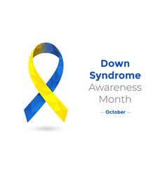 World down syndrom awareness month concept vector
