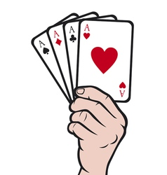 Hand holding playing card-gambling vector image vector image