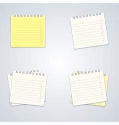 modern notebook set on gray background vector image