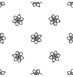 molecules of atom pattern seamless black vector image vector image