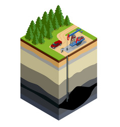 oil drilling exploration concept engineer writing vector image
