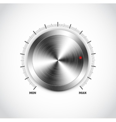 Realistic metal button with circular processing vector image