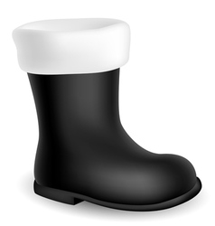 Santa black boot vector image vector image