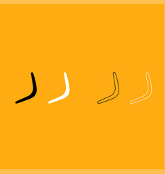 Boomerang it is white icon vector