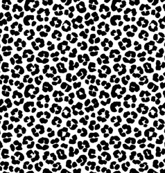 Leopard print seamless background pattern Black vector image vector image