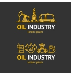 Oil Industry Corporate Sign Concept vector image vector image