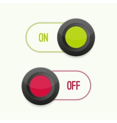 Toggle Switch On and Off vector image