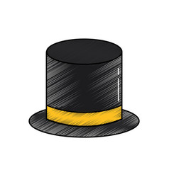top hat accessory elegance fashion vector image