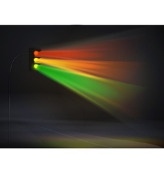 abstract traffic lights in fog background vector image vector image