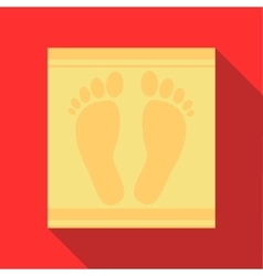 Bath mat icon in flat style vector image