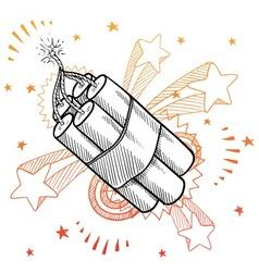 doodle pop dynamite vector image