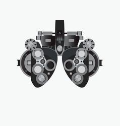 eye examination isolated on white background vector image